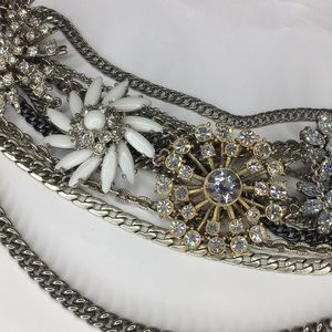 STUNNING Multi-Layer Crystal Statement Necklace